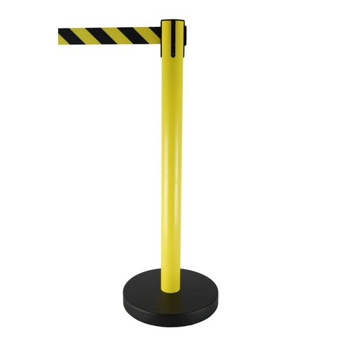 Black/ Yellow Retractable Belt Safety Barrier