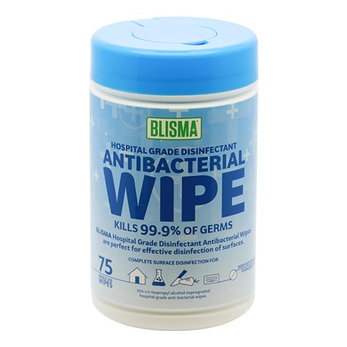BLISMA™ 75pc Anti-Bacterial Alcohol Wipes