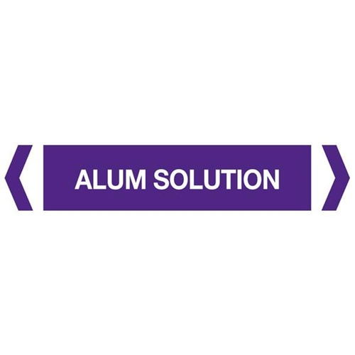 Alum Solution Pipe Markers
