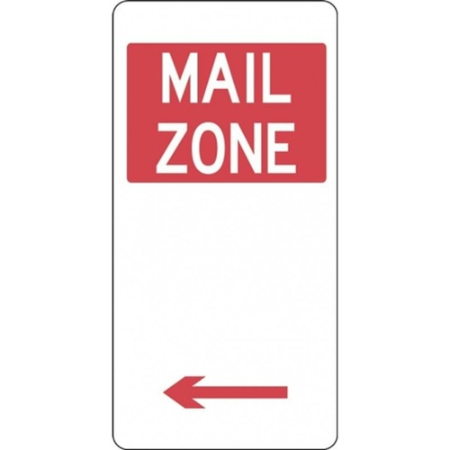 R5-26_Left Left Arrow Mail Zone Sign- Class 1 Reflective - 225mm x 450mm