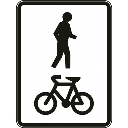 R8-2 Shared Footway Sign- Class 1 Reflective